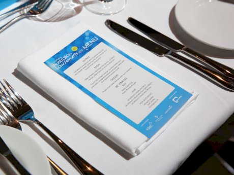 Australian Law Awards table placing and menu